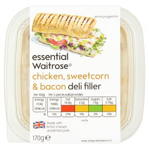 essential Waitrose Chicken, Sweetcorn & Bacon Deli Filler