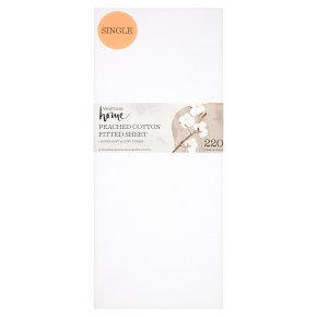 Waitrose Home Peached Cotton Fitted Sheet