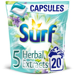 Surf Herbal Extract Washing Capsules, 20 wash