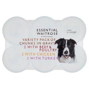 essential Waitrose Chunks in Gravy Selection