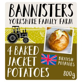 Bannisters' Farm 4 ready baked potatoes