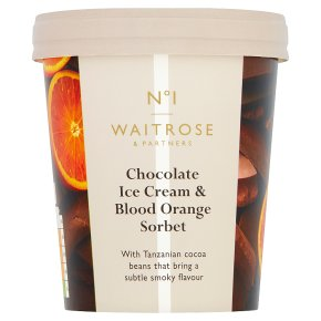 Waitrose 1 Tanzanian chocolate ice cream with blood orange
