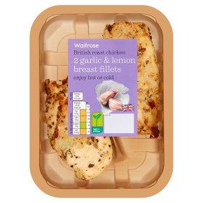 Waitrose 2 British garlic & lemon roast chicken breast fillets