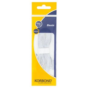 Korbond White Elastic 6mm