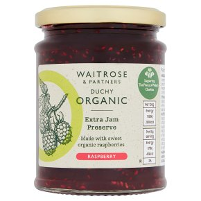 Waitrose Duchy raspberry preserve extra jam