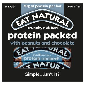 Eat Natural bars protein packed with peanuts & chocolate