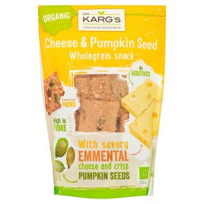 Dr Karg cheese & pumpkin seed crispbreads