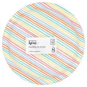 Waitrose Home Multi Stripe Paper Plates
