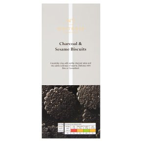 Waitrose 1 charcoal & sesame wholemeal biscuits