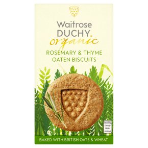 Duchy Originals from Waitrose organic rosemary & thyme oaten biscuits