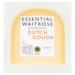 essential Waitrose Dutch mild gouda cheese, strength 2