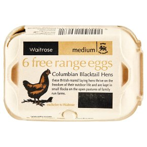 Waitrose Columbia Blacktail Hens free range eggs med