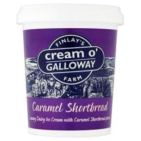 Cream o'Galloway caramel shortbread ice cream