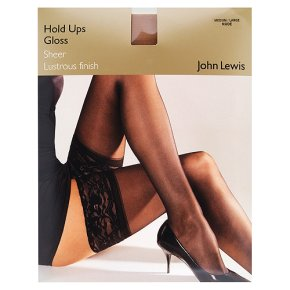 d337ff3c987 John Lewis Women gloss 15 denier hold ups