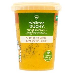 Waitrose Duchy Organic spiced carrot & parsnip soup