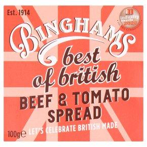 Binghams beef & tomato spread