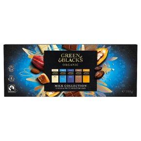 Green & Black's 12 bars of milk & white chocolate