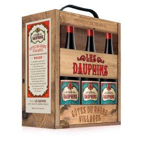 Les Dauphins Côtes du Rhône Villages Wine Box