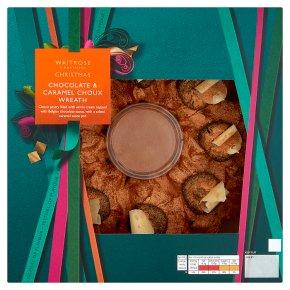 Waitrose Chocolate & Caramel Choux Wreath