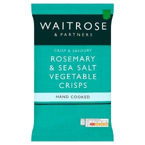 Waitrose Rosemary & Sea Salt Vegetable Crisps