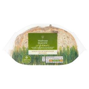 Waitrose Duchy Organic Wheat, Rye & Sunflower bloomer bread