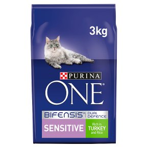 Purina ONE Sensitive Dry Cat Food Turkey and Rice