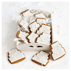 12 Blossom Gingerbread Biscuits - IVORY