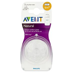 Philips Avent 6month+ natural teats, pack of 2