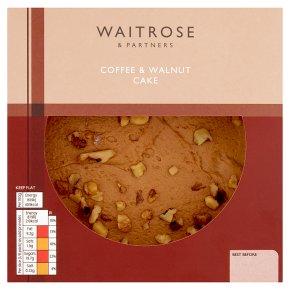 Waitrose coffee & walnut cake