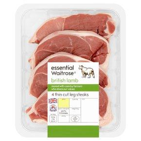essential Waitrose Lamb Leg Steaks