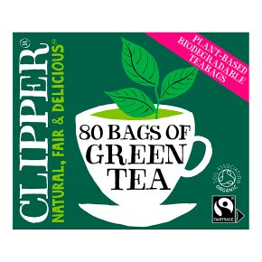 Clipper 80 Pure Green Teabags