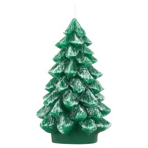Waitrose Christmas Tree Candle Green