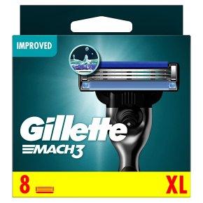 Gillette Mach 3 Manual Razor Blades 8 count
