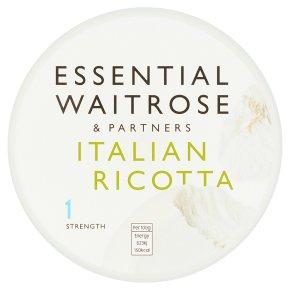 essential Waitrose Italian Ricotta cheese, strength 1