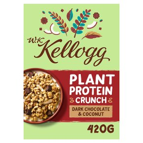 W.K Kellogg Plant Protein Crunch Dark Chocolate