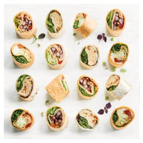 Vegetarian Wrap Platter, 18 pieces