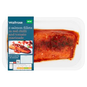 Waitrose Salmon Fillets in Chilli & Tomato Marinade