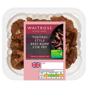 Waitrose 2 Teriyaki Beef Rump Stir Fry