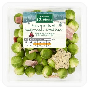 Waitrose Baby Sprouts with Smoked Bacon