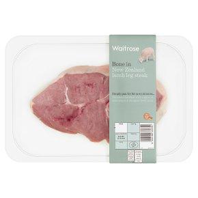 Waitrose New Zealand Lamb Leg Steak