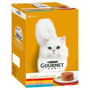 Gourmet Gold Tinned Cat Food Savoury Cake Mixed