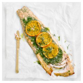 Salmon Side with Orange, Mustard and Dill