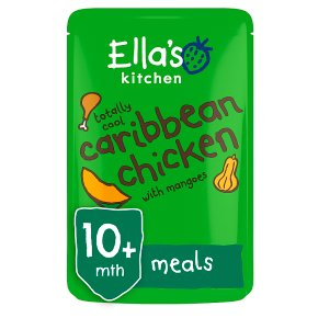 Ella's Kitchen Organic totally cool caribbean chicken with mangoes- stage 3 baby food
