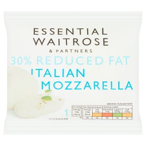 essential Waitrose Italian Lighter Mozzarella Strength1
