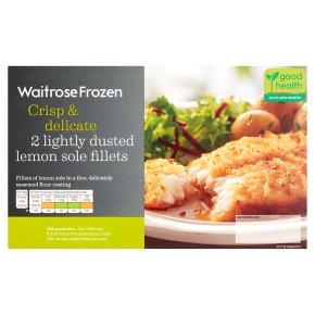 Waitrose Frozen 2 Lightly Dusted Lemon Sole Fillets