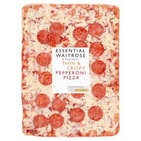 essential Waitrose pepperoni pizza