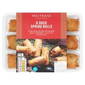 Waitrose 6 duck spring rolls