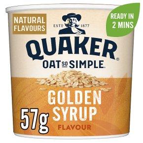 Quaker Oats So Simple golden syrup porridge cereal pot