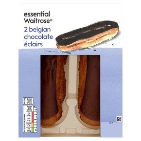 essential Waitrose Belgian chocolate éclairs
