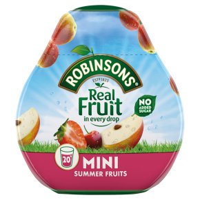 Robinsons squash'd Summer fruits no added sugar